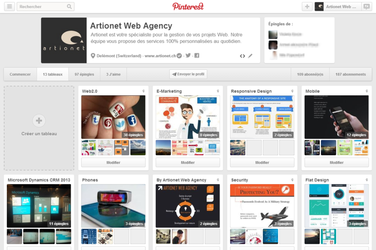 Artionet Web Agency sur Pinterest