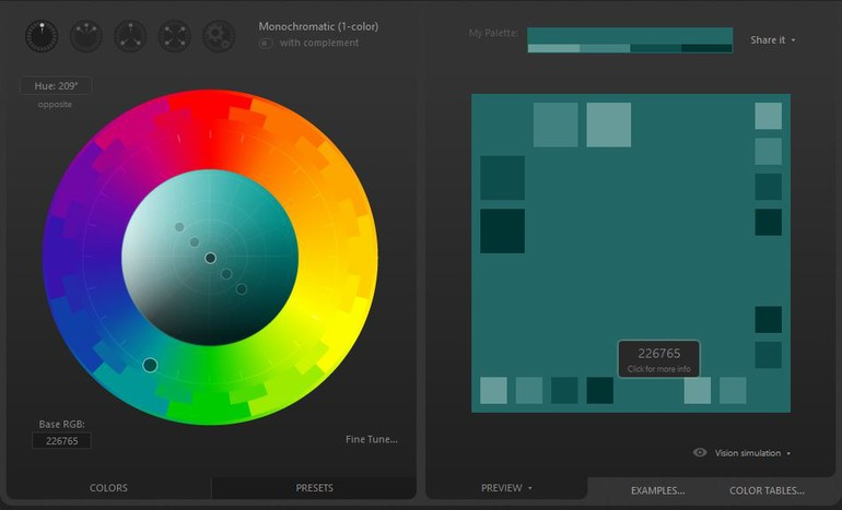 Outil Color Scheme Designer