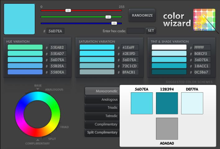 Outil Color Wizard