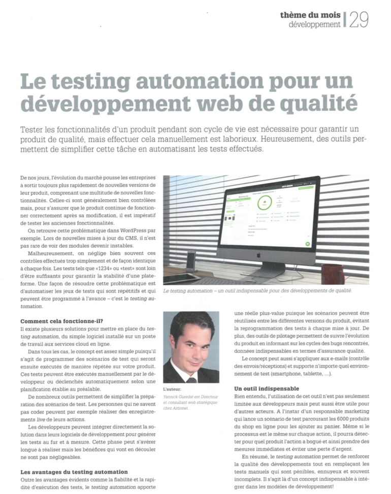 Testing Automation - ICT Journal