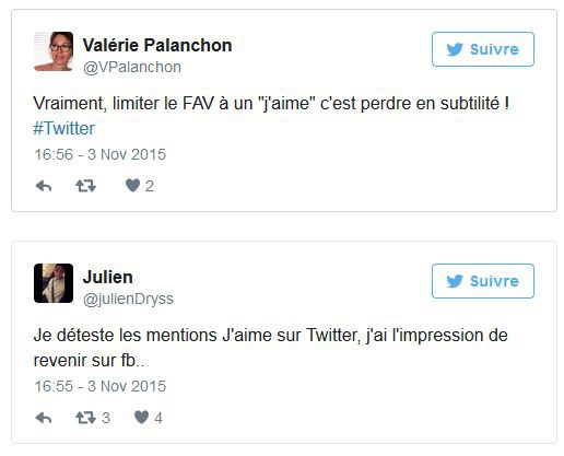Réactions Twitter