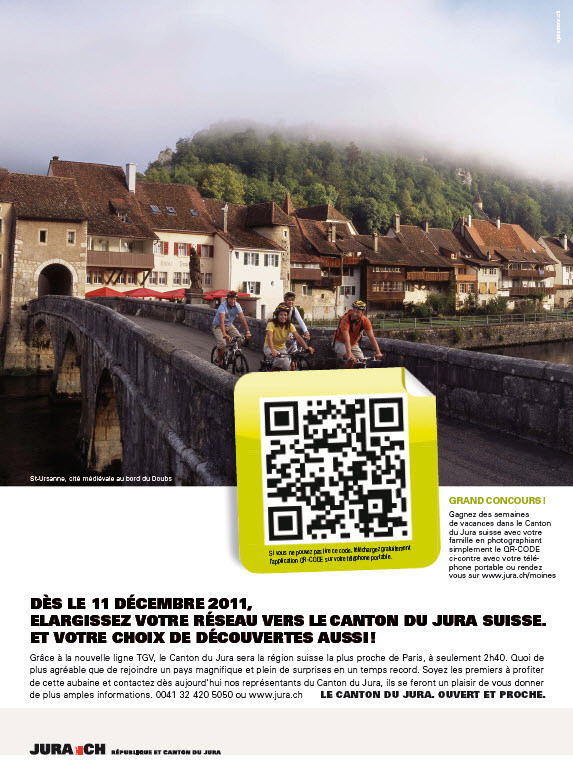 Affiche : Jura.ch - QR Code - Copyright (C) Openroom
