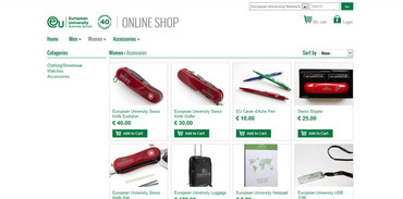 EUROPEAN UNIVERSITY - ONLINE SHOP