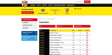 HC Ajoie - Calendrier