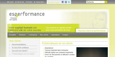 Aperçu du site ESPerformance