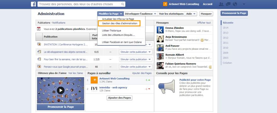 comment devenir administrateur d une page facebook